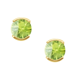 'August Birthstone'' 14KT Genuine 4mm Peridot earrings; available...