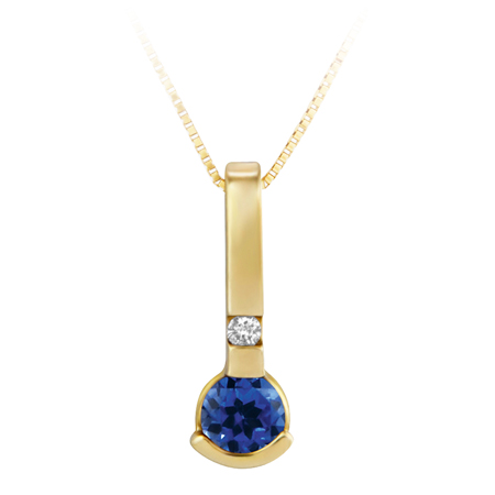 Lab Created 4mm round Blue Sapphire ''September Birthstone'' ...