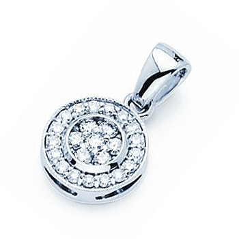 14kt Classic Diamond Pendant.  Total Diamond Weight .40cttw.  Price does not ...