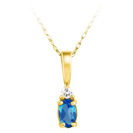 Genuine Blue Topaz ''December Birthstone'' and .03ct Diamond ...