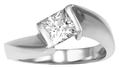 Princess Cut or Round Brilliant?Your Choice they both look great in this design.  Designed for 1/...