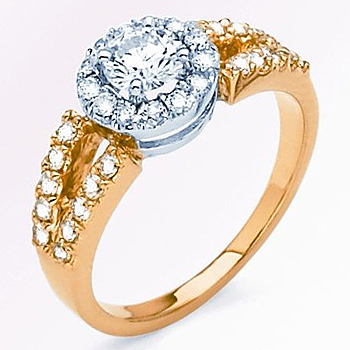 14kt Diamond Fashion Ring; .98cttw.; Center Diamond .48ct with .50cttw of Side Diamonds.  Availab...