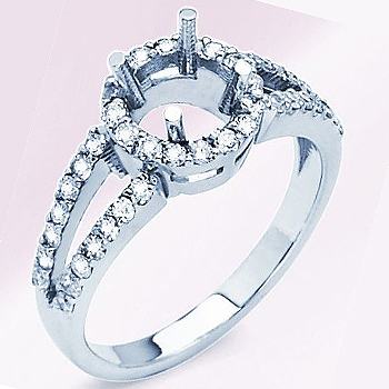 14kt  Diamond Fashion Ring Semi Mount; .70cttw Diamond Total Weight.