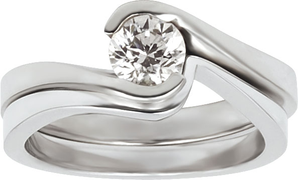 14kt Low Profile Diamond Bridal Set Mounting; Made to hold 1/4ct or 1/2ct rou...
