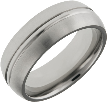 Mens and Ladies Titanium Bands; 7mm Comfort Fit; Satin Finished; Available in Full or Half Sizes 6.5-15