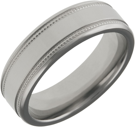 Mens and Ladies Titanium Bands; 6mm Comfort Fit; High Polish Finish; Available in Full or Half Sizes 6.5-15