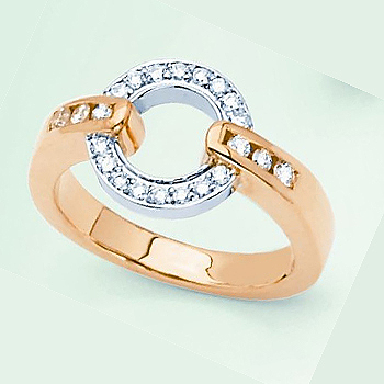 Designer's Original; 14kt Two Tone; .30cttw Diamond Ring.  Also available...