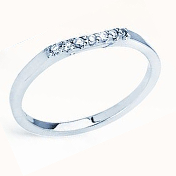 The Perfect Mate; 14kt .07cttw Diamond Contour Band.  Similar Styles R7405D; ...