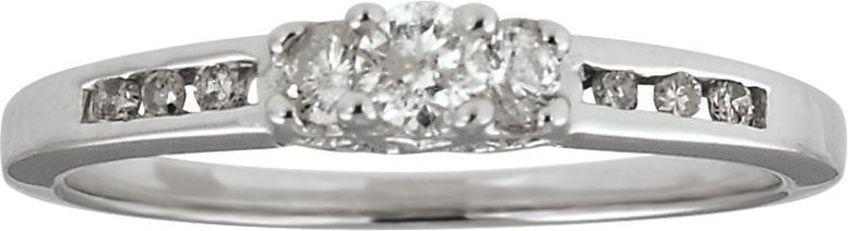 10kt Diamond Anniversary Ring; 10 Round Brilliant Diamonds 0.25cttw Total Diamond Weight
