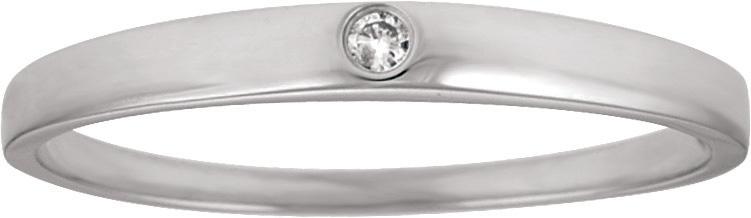 10kt Diamond Promise Ring; .02ct Round Brilliant Diamond