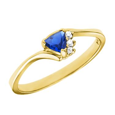 Lab Created 4mm Trillion cut blue sapphire ''September Birthstone&#39...