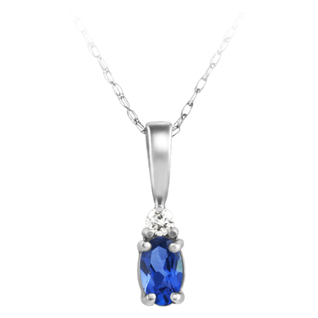 Lab Created Blue Sapphire ''September Birthstone'' and .03ct ...