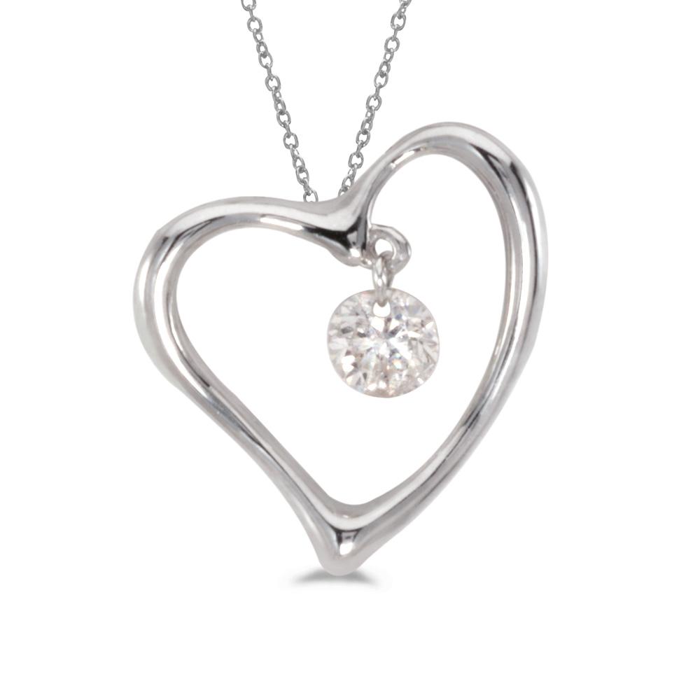 14k gold Dashinng Diamonds pendant with 0.15 total ct diamonds. The center dangling diamond dance...