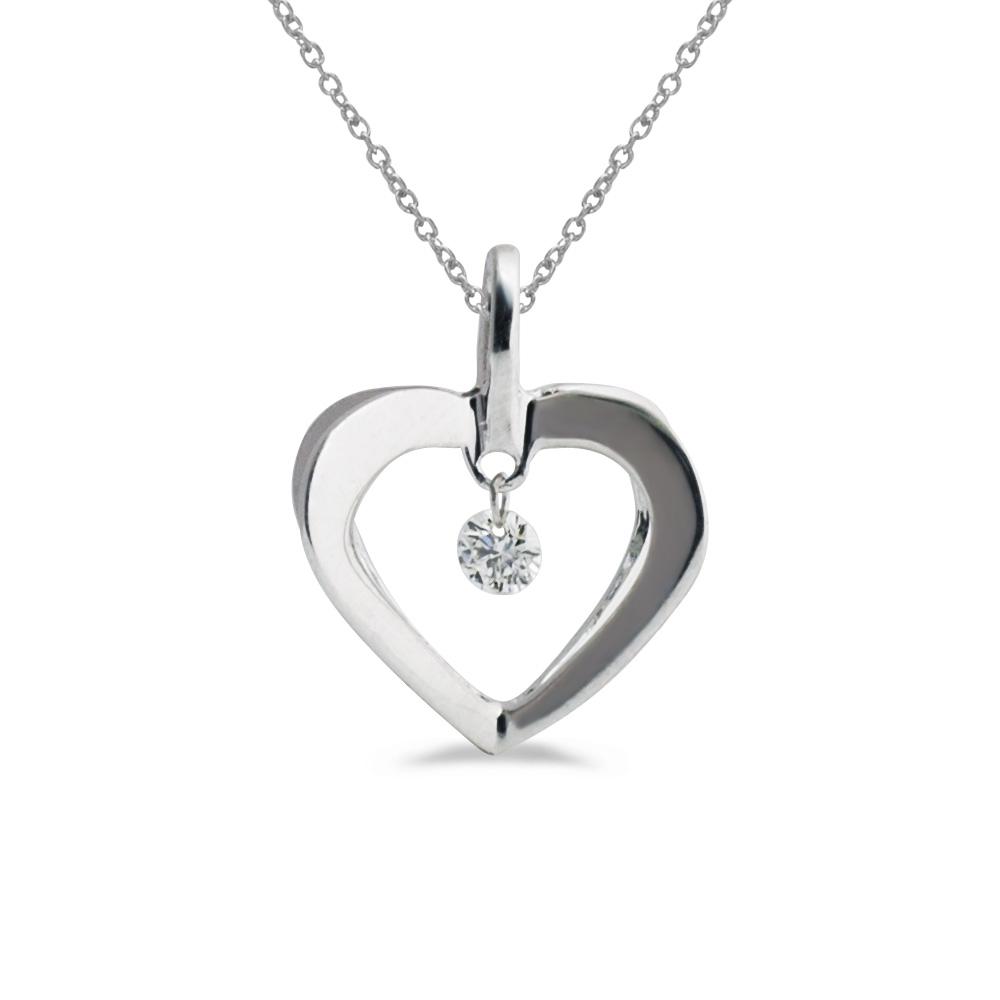 14k gold Dashinng Diamonds pendant with 0.08 total ct diamonds. The center dangling diamond dance...