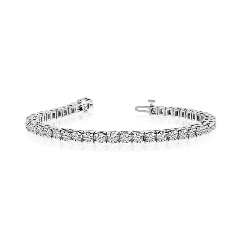 14k White Gold 6 Ct. Classic Diamond Tennis Bracelet