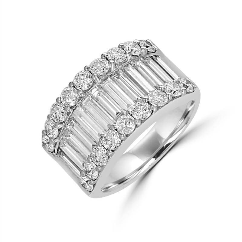BAGUETTE & ROUND DIAMOND BAND RING