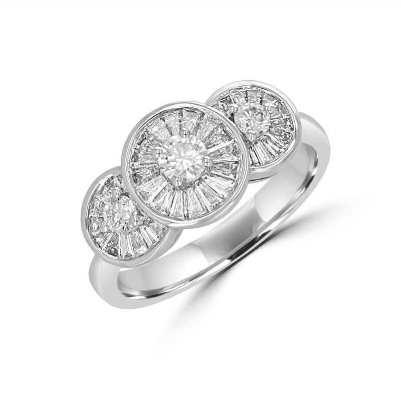 ROUND & BAGUETTE DIAMOND RING