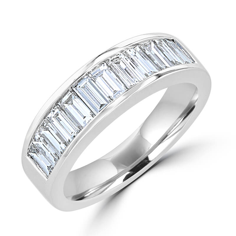 BAGUETTE DIAMOND CHANNEL BAND RING