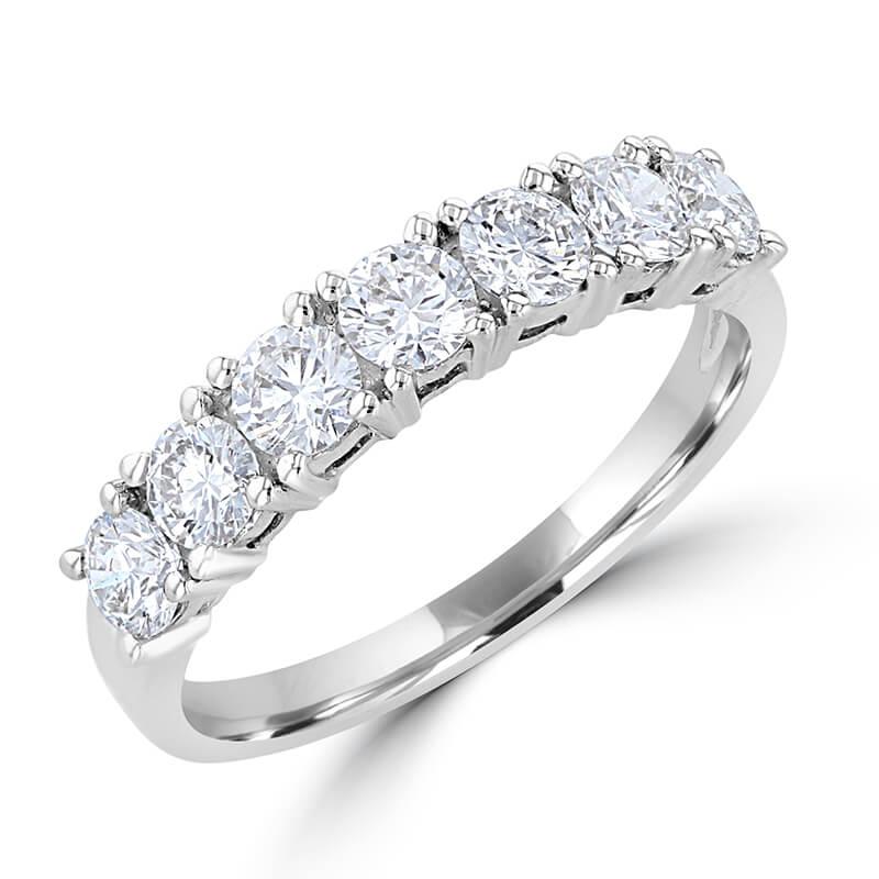 7 ROUND DIAMOND PRONG SET BAND RING