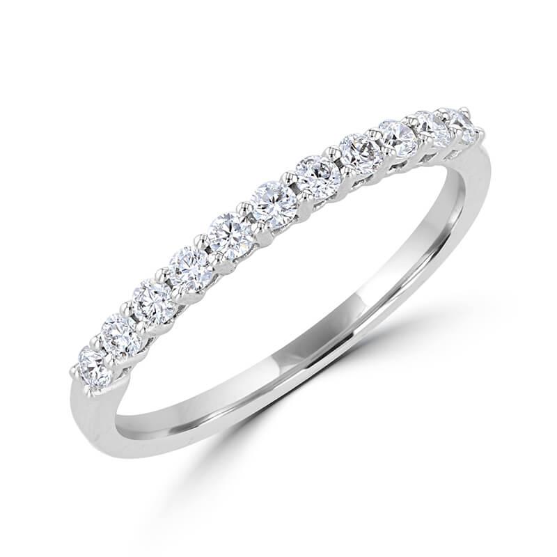 11 ROUND DIAMOND PRONG SET BAND RING