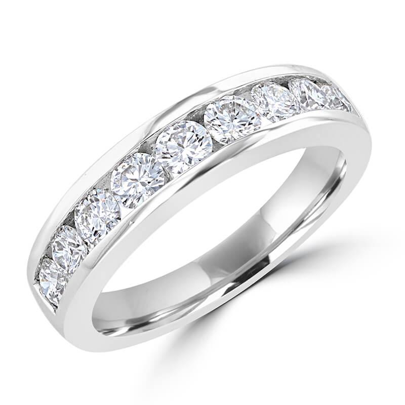 NINE ROUND DIAMOND CHANNEL BAND RING