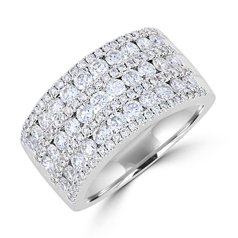 ROUND DIAMOND 7 ROW BAND RING