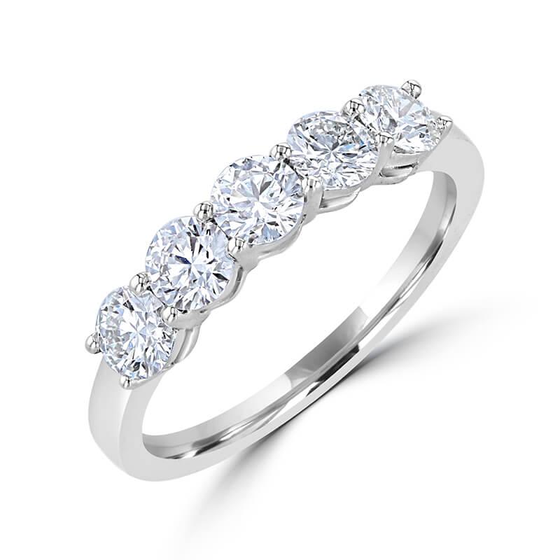 5 ROUND DIAMOND PRONG SET BAND RING