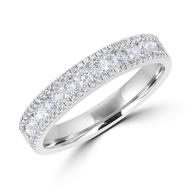 JCX391419: ROUND DIAMOND PRONG BAND RING