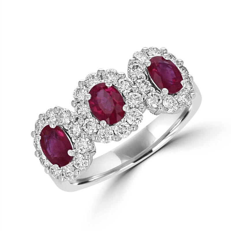 JCX391479: 3 OVAL RUBY HALO RING