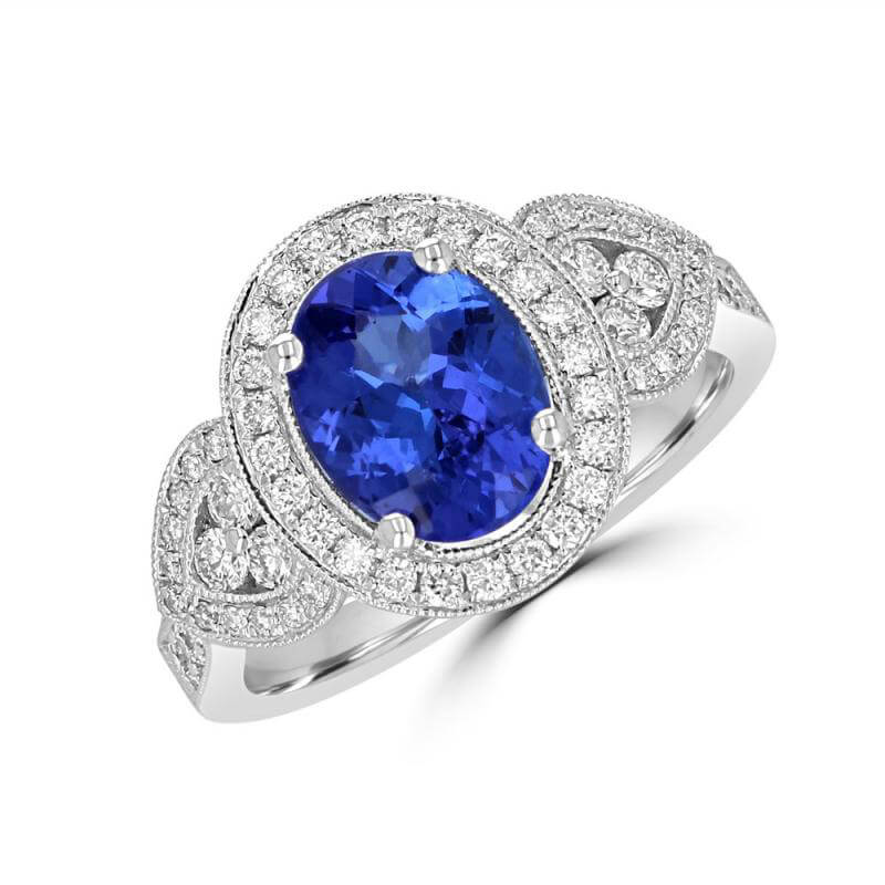 7X9 OVAL SAPPHIRE AND DIAMOND RING