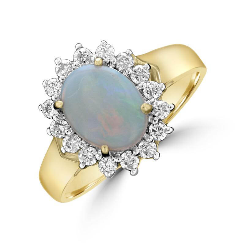 JCX391526: 7X9 OVAL OPAL HALO RING
