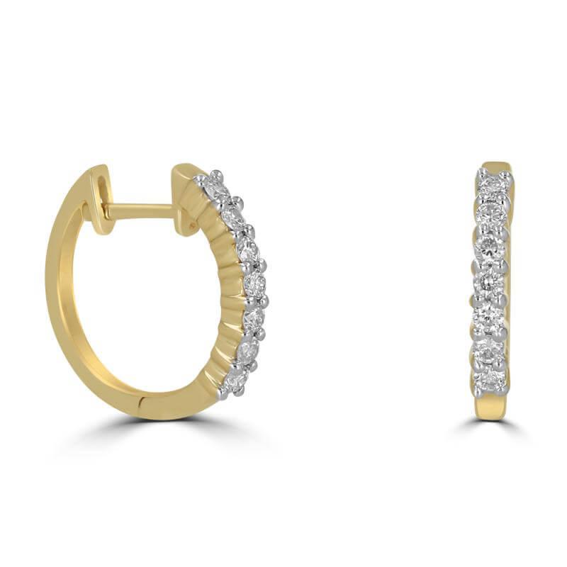 ROUND DIAMOND PRONG HUG EARRING