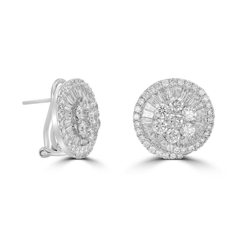 LARGE DIAMOND WHEEL EARRINGS