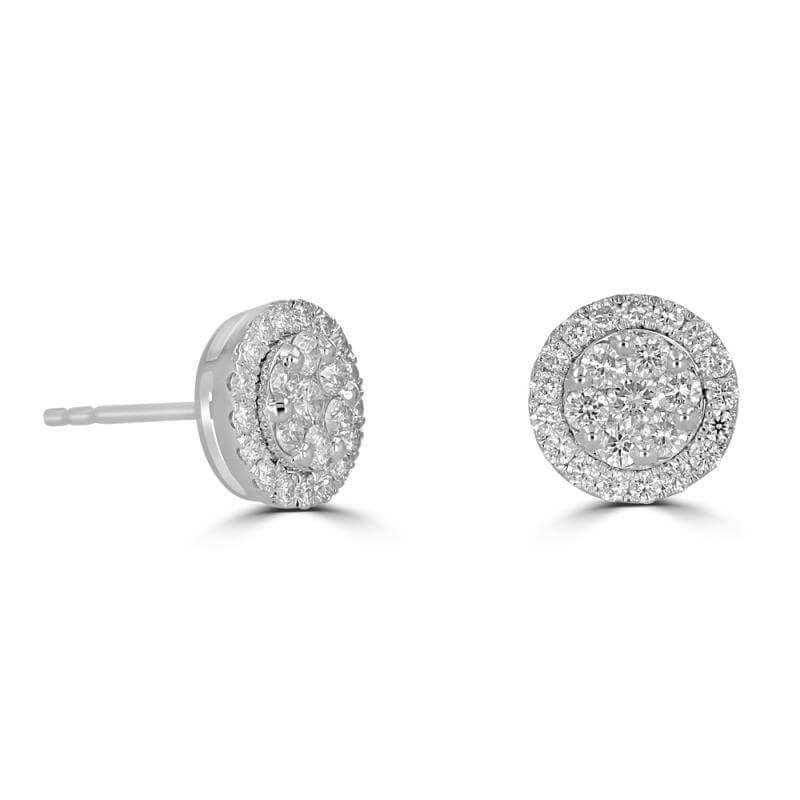 JCX391745: ROUND DIAMOND EARRINGS