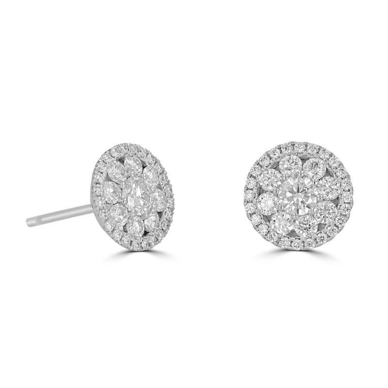 ROUND DIAMOND EARRINGS