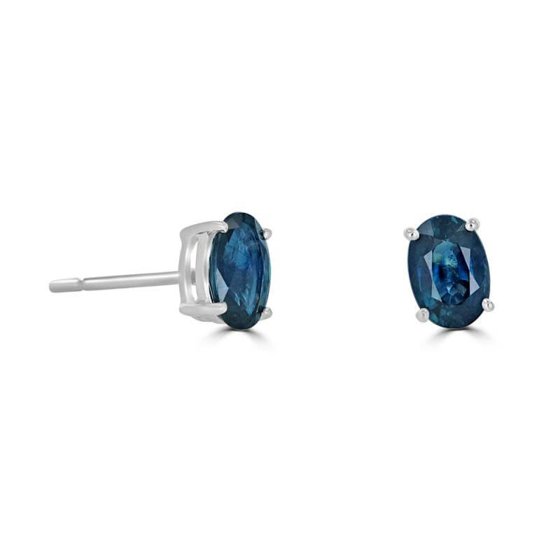 JCX391796: 4X6MM OVAL SAPPHIRE STUD EARRINGS