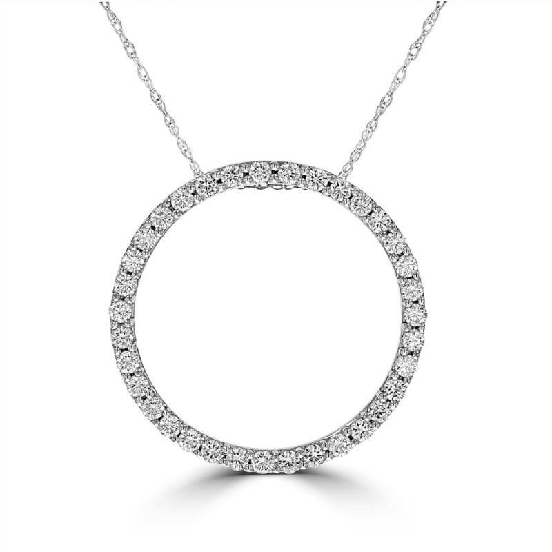 DIAMOND CIRCLE OUTLINE PENDANT 24MM DIAMETER (CHAIN NOT INCLUDED)