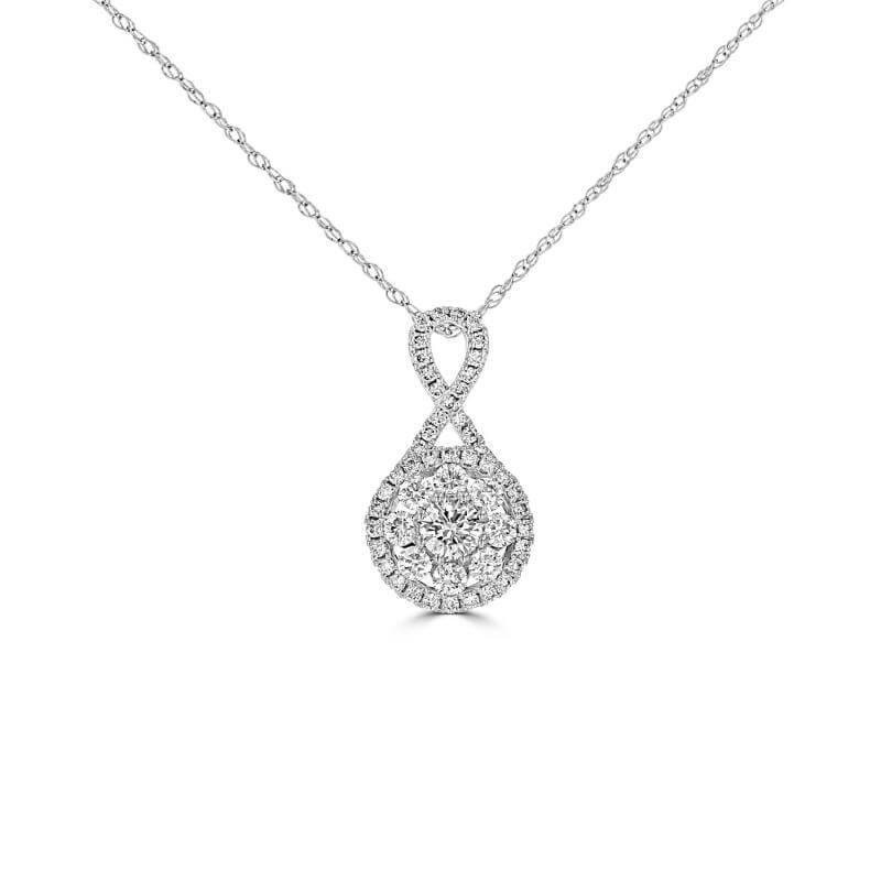 ROUND DIAMOND PRONG PENDANT (CHAIN NOT INCLUDED)