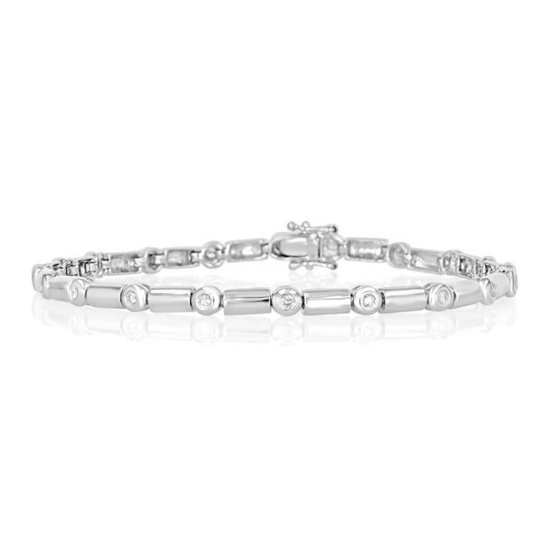 JCX392061: ROUND DIAMOND BEZEL BRACELET