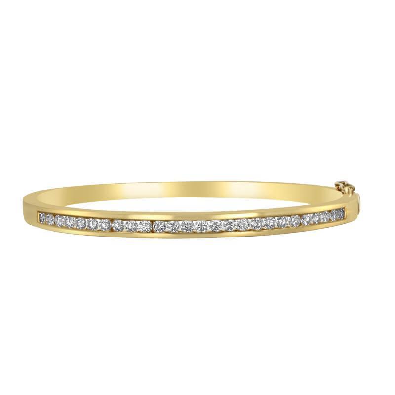 JCX392097: ONE ROW ROUND DIAMOND CHANNEL BANGLE
