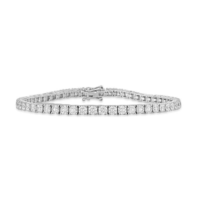 ROUND DIAMOND PRONG BRACELET