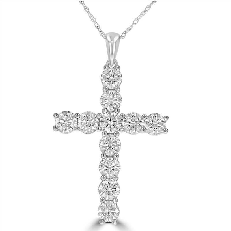 ROUND DIAMOND CROSS PENDANT (CHAIN NOT INCLUDED)
