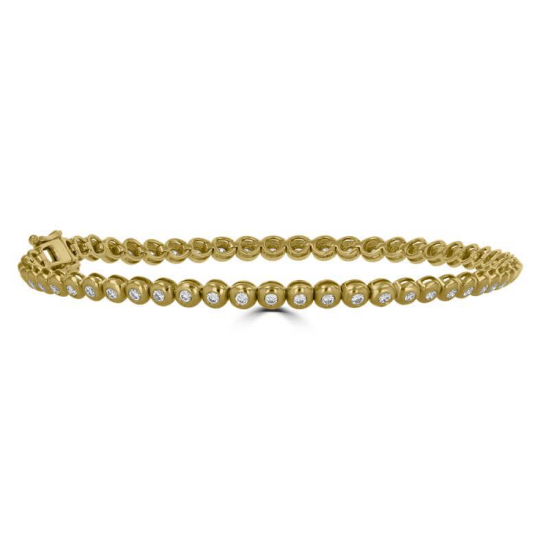 JCX392169: ROUND DIAMOND BEZEL BRACELET
