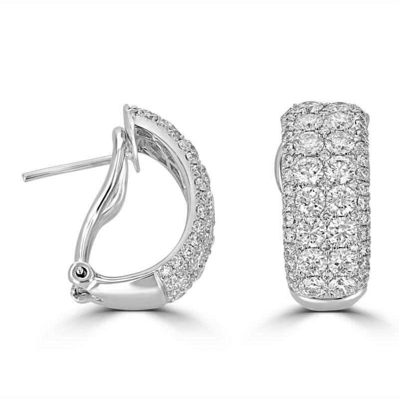 JCX392177: ROUND DIAMOND HOOP EARRINGS