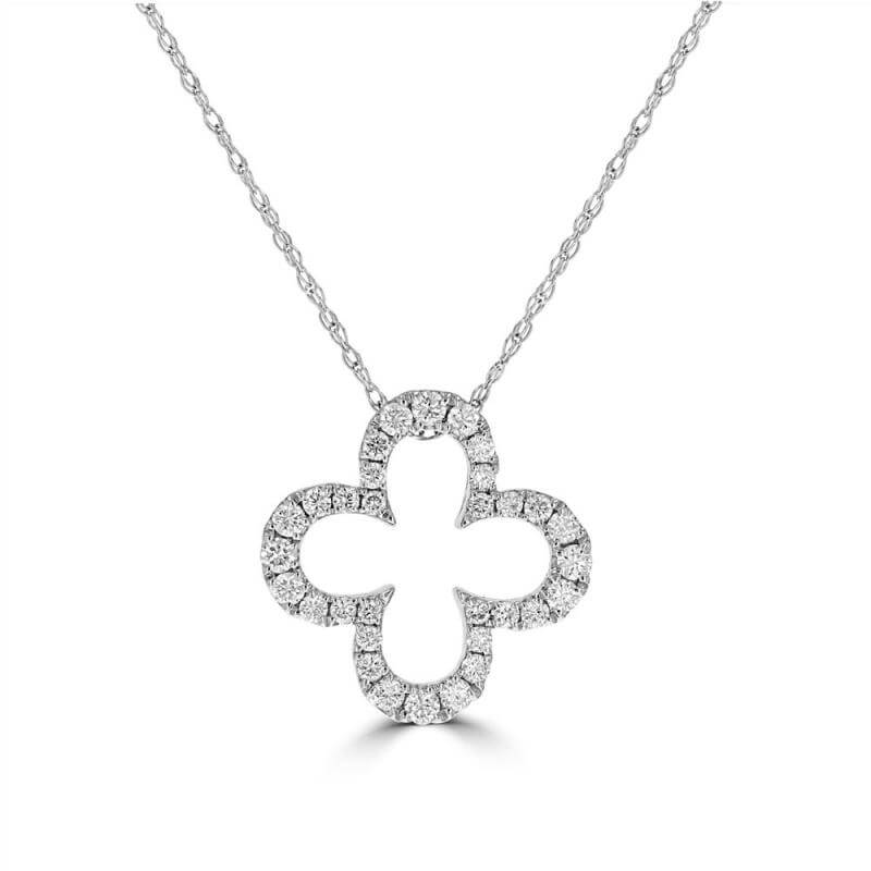 JCX392283: DIAMOND CLOVER OUTLINE PENDANT (CHAIN NOT INCLUDED)