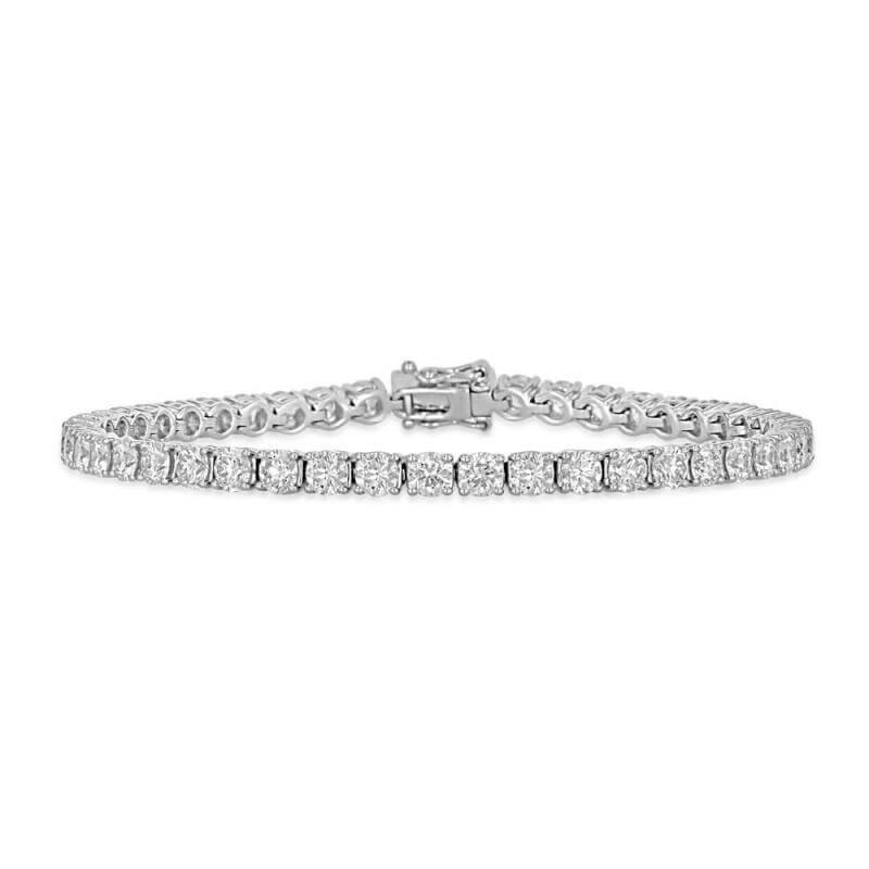 ROUND DIAMOND PRONG TENNIS BRACELET