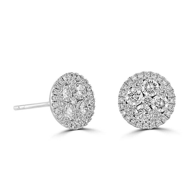 JCX392368: ROUND DIAMOND EARRINGS