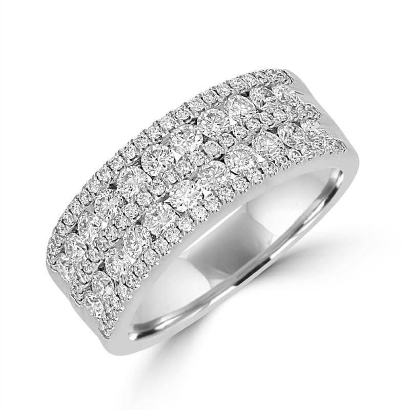 ROUND DIAMOND 5 ROW BAND RING