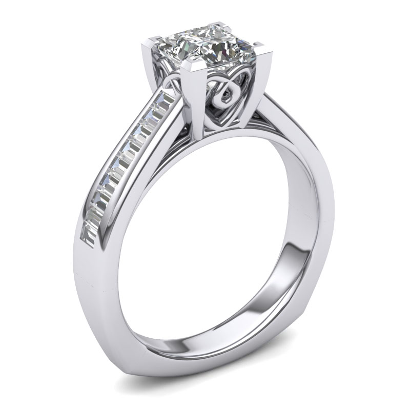 Available in 14k or 18k White Gold, Yellow Gold, Rose Gold or Platinum