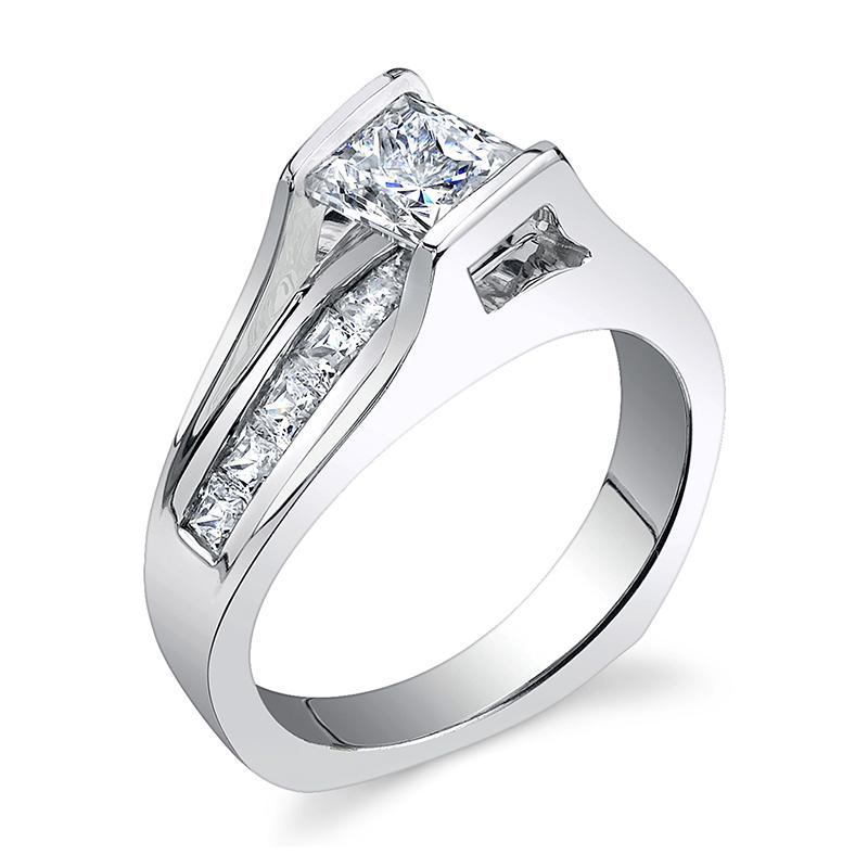JCX391297: Floating Diamond Engagement Ring